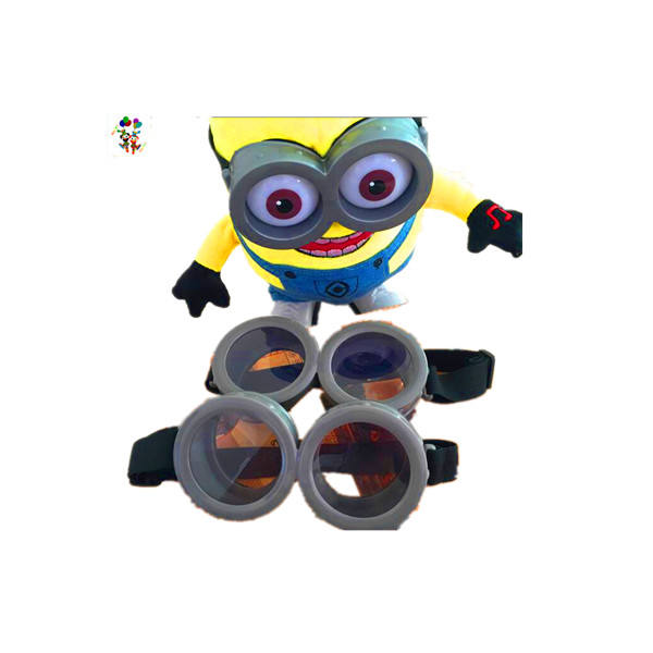 Funny Decorative Minions Circular Glasses Cosplay Costume Party Props 3D