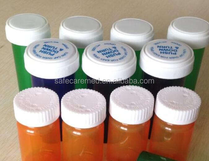 Plastic pharmaceutical bottle pharmacy vials/disposable hospital small amber small vials