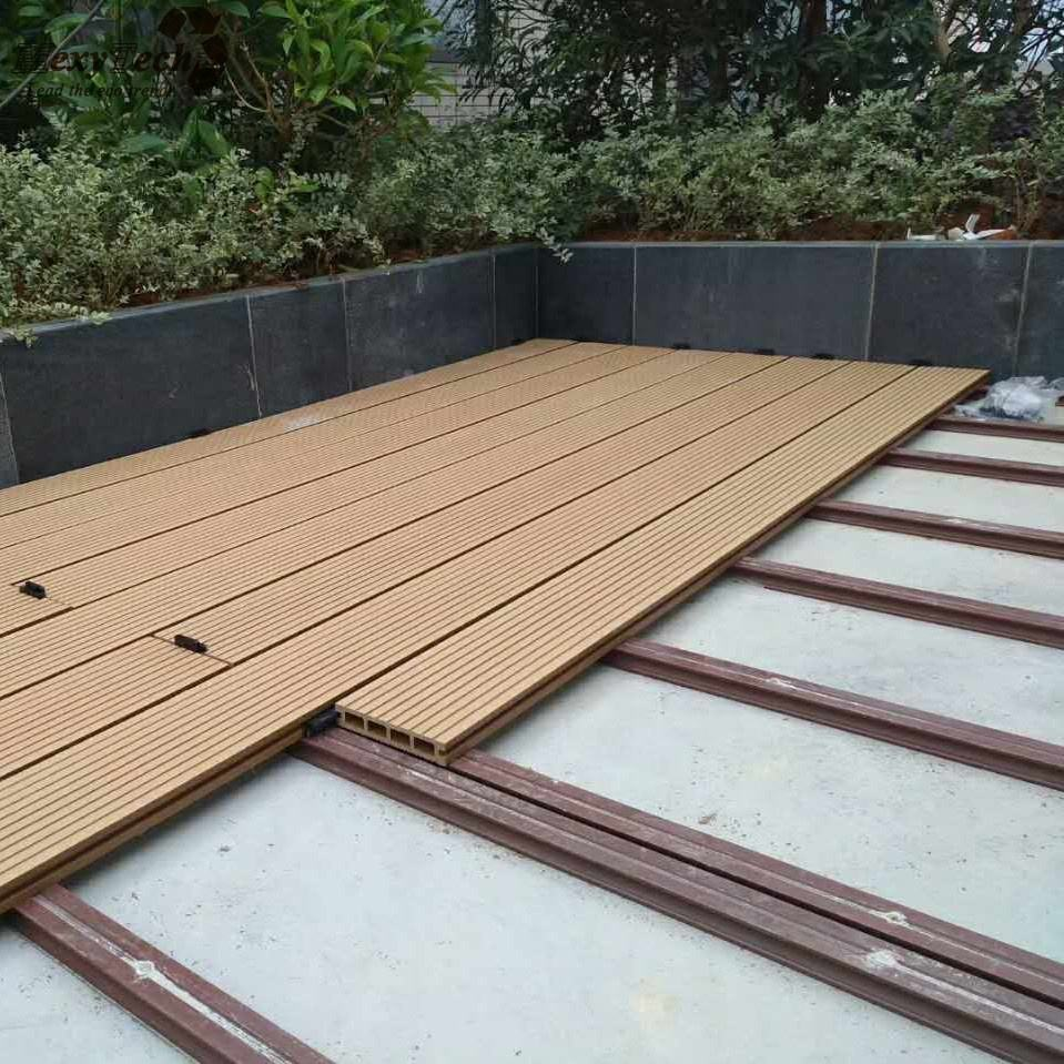 Foshan outdoor composite panel capped terrasse co-extrudierten decking wpc