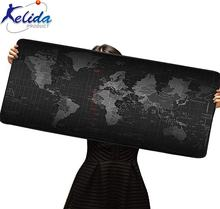 Large  Gaming World Map Extended XXL size 900mmX400mm Computer Stitched Edges Non-Slip Printed Mouse Pad
