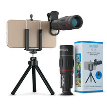 APEXEL 18X Zoom Telephoto Lens with Tripod Universal Optics Glass Telescope Phone Camera Lens 18X25 Zoom Lens for Mobile Phone