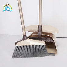 Boomjoy High quality household long handle plastic wholesale broom with dustpan
