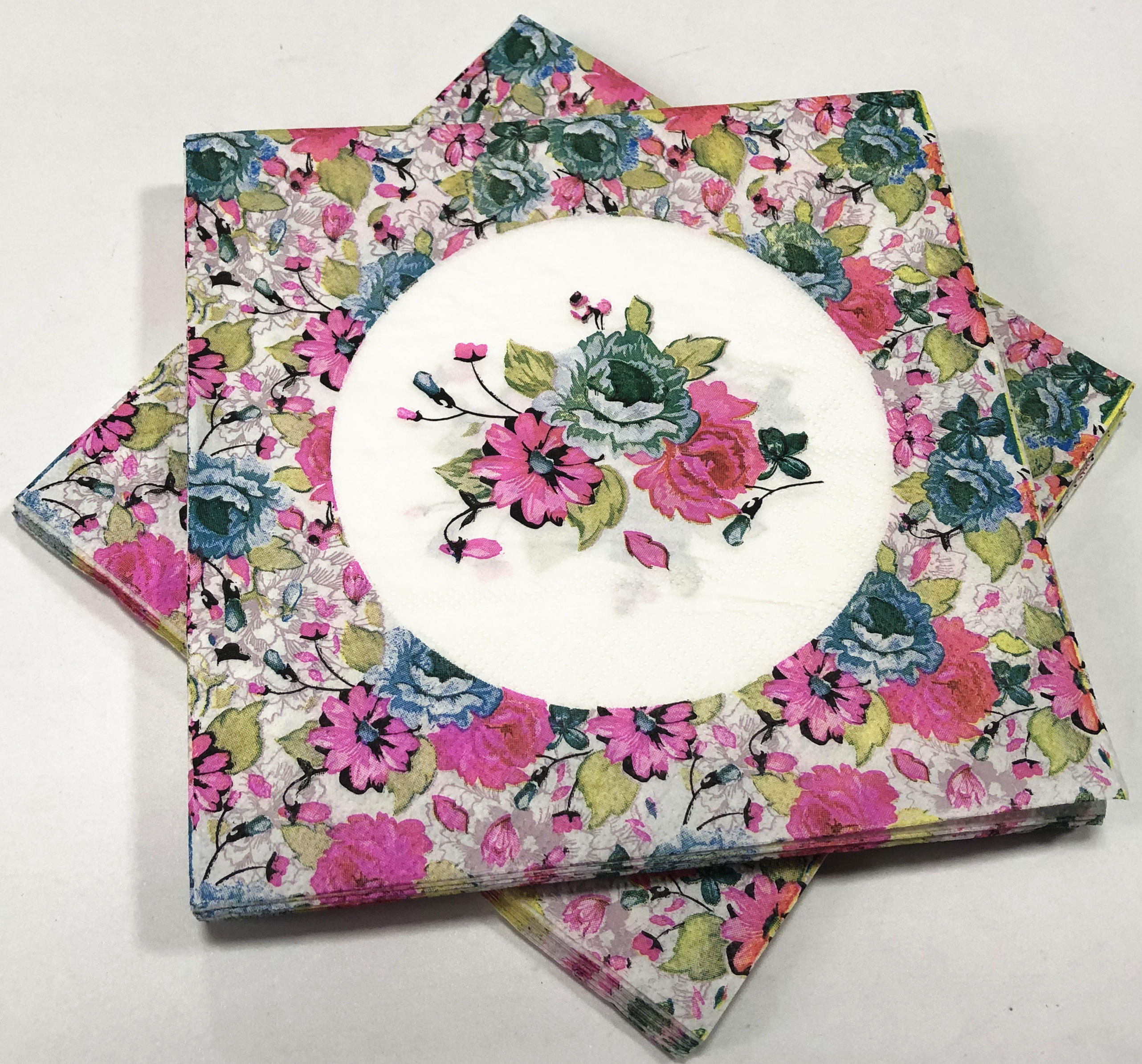 Multi - color floral napkin series