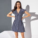 New Fashion Lady Short Sleeve Casual Office Dresses Summer Korean Mini Dress