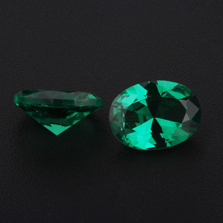 Wholesale Nano Gems, Oval Cut Gemstone, Nano Green Stone