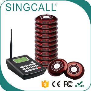 SINGCALL restaurant coaster queue system wireless pager customer paging system