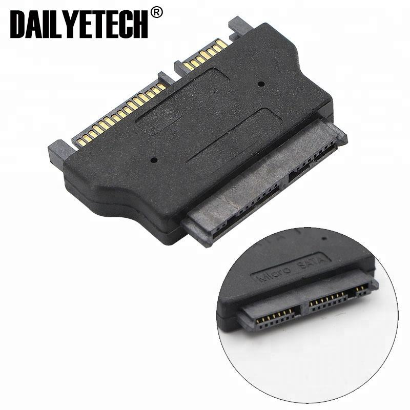 "SATA 22 pin male to 1.8"" IN Micro SATA 16 pin female 3.3V Adapter convertor for Hard Disk Drive SSD"
