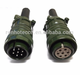 Amphenol High Quality Military MS5015 Series 7 Pin Male and Female Straight Plug Socket Solder connector