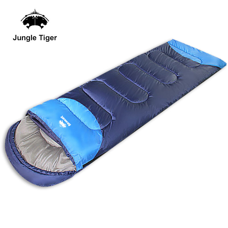 Winter Camping Sleeping Bag Orange Gray Blue Gray Patchwork Ultralight Sleeping Bag Road Trip Camping Sleeping Bag