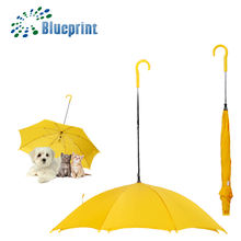 Functional Pet reverse custom cheap stick dog umbrella rain