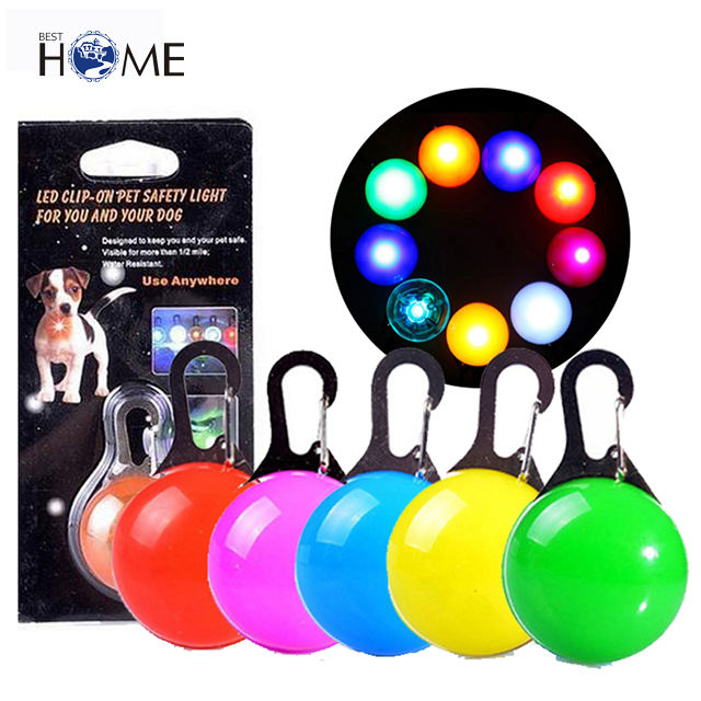 Blinking Clip-PendantにPet Collar Flash Light LED Dog ID Tag