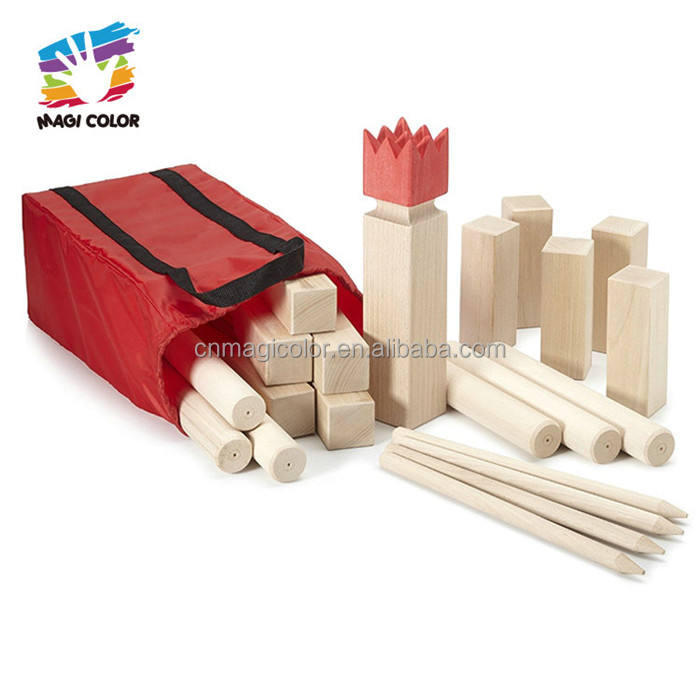 wholesale cheap outdoor wooden kubb yard game for throwing W01D006