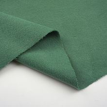Factory Sale deep green heavy polyester rayon blend 100% woolen fabric for coat