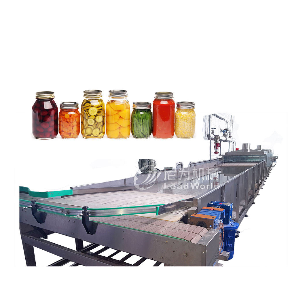 automatic sterilization machine for glass bottles and cans