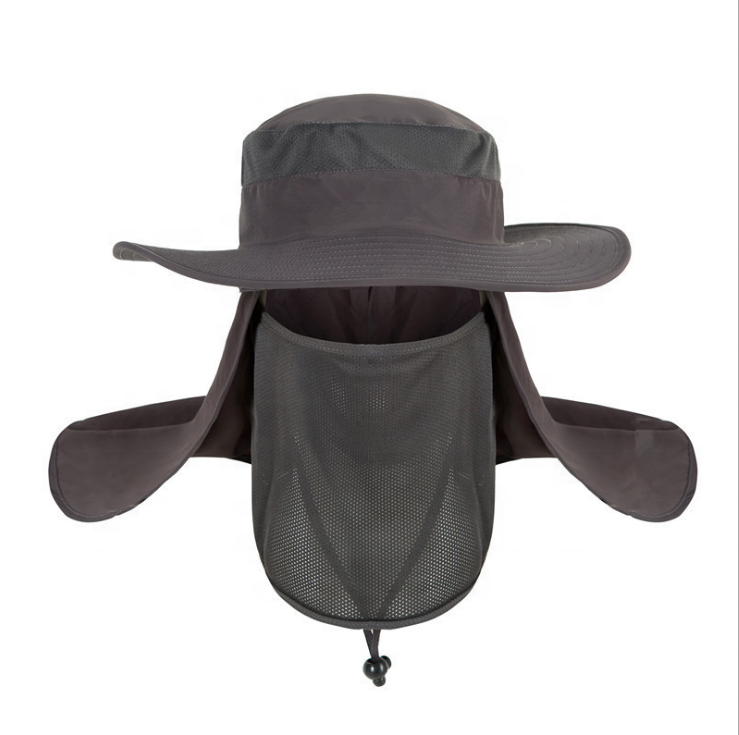 Summer Uv Protection Hat Safari Hiking Fisherman Hat Fishing Bucket Hat With Neck Cover