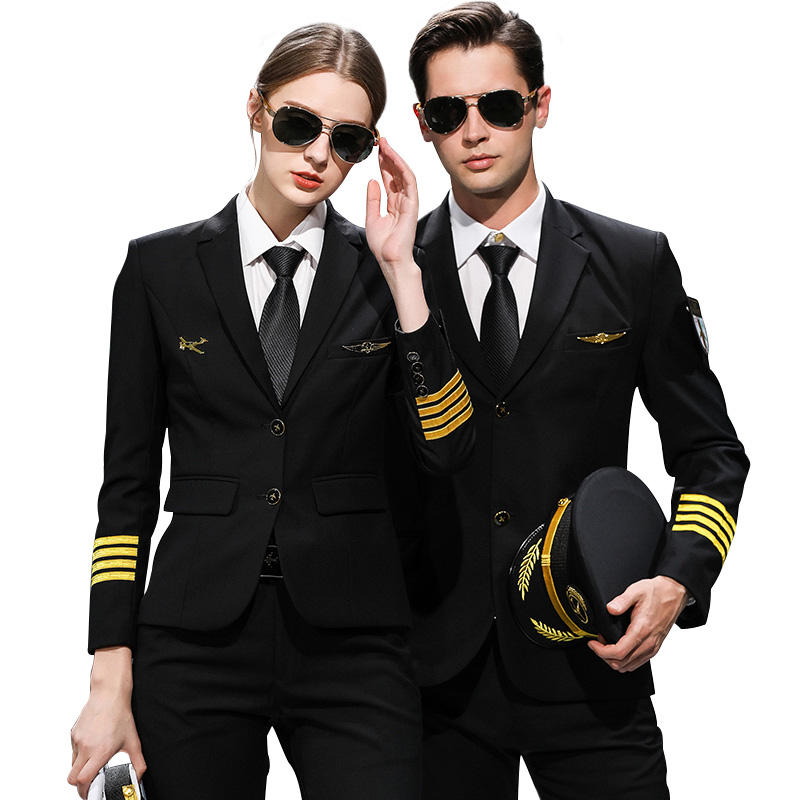 High QualityClassical Cool Airline Pilot Uniform Oem Factory Polit Uniform Without shoulder Boards
