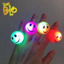 Party Favor Jelly Flashing Emoji Light Up LED Ring