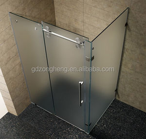 Factory supplied prefabricated shower cubicles with accessories and figured glass ready made bathroom