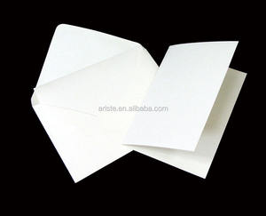 20100S Custom white A6 size Blank Card, greeting card for DIY
