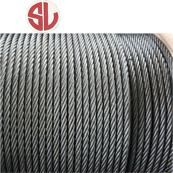 1000 Meter Package Ungalvanized Steel Wire Rope