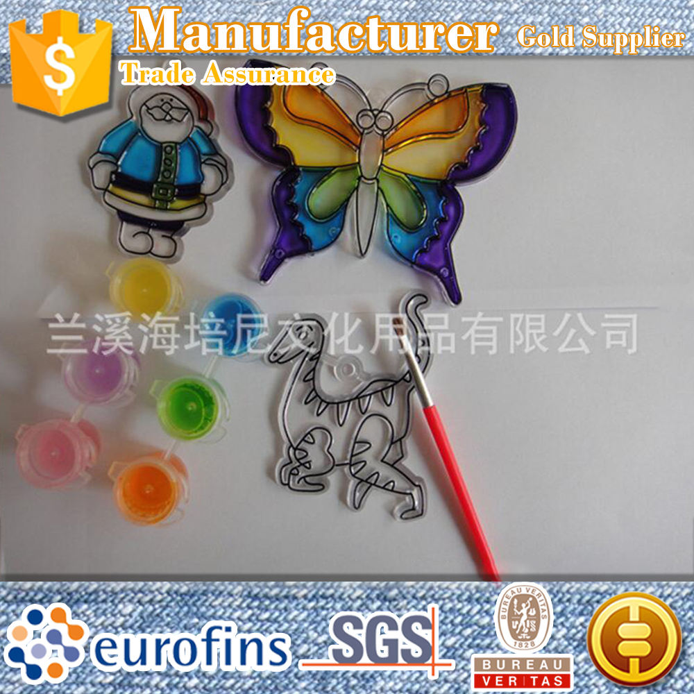 Christmas wholesale bulk diy drawing toy butterfly suncatcher crystal