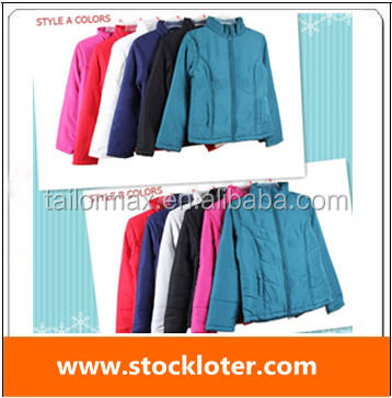 Cheap padding warm thick jacket waterproof winter garment coat stock Jacket Coat Over Stock ,140508(9)