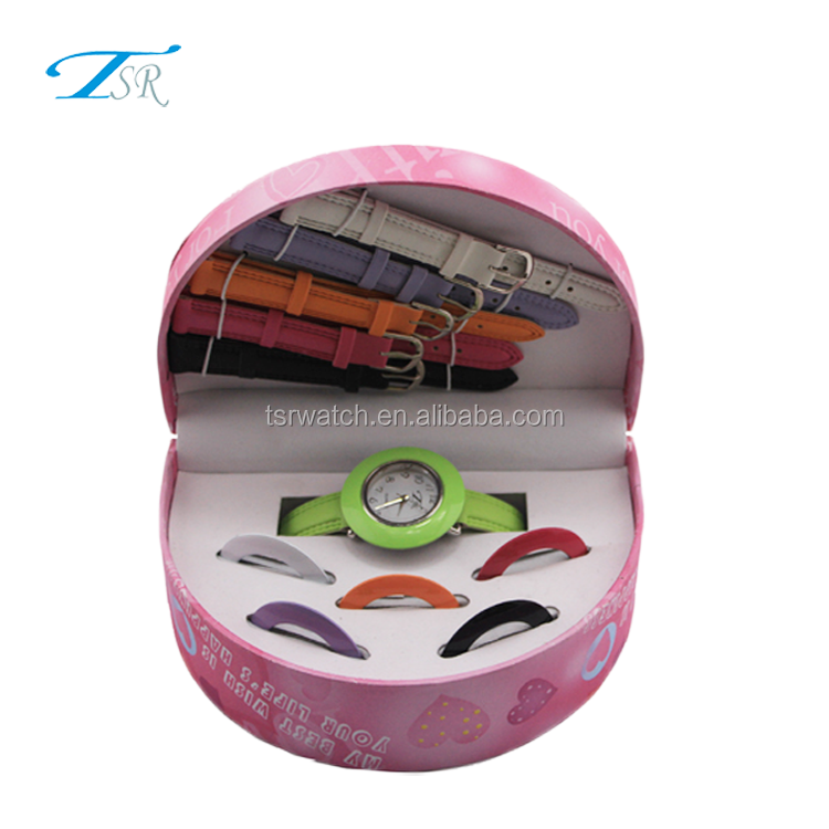 Women watch set for gift made in factory price,watch bracelet types gift set