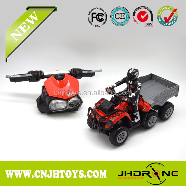 1/10 Electric RC Motorcycle YD898-MT1902G高品質!Simulation Motorcycle 4D 2.4G電源6輪オートバイ