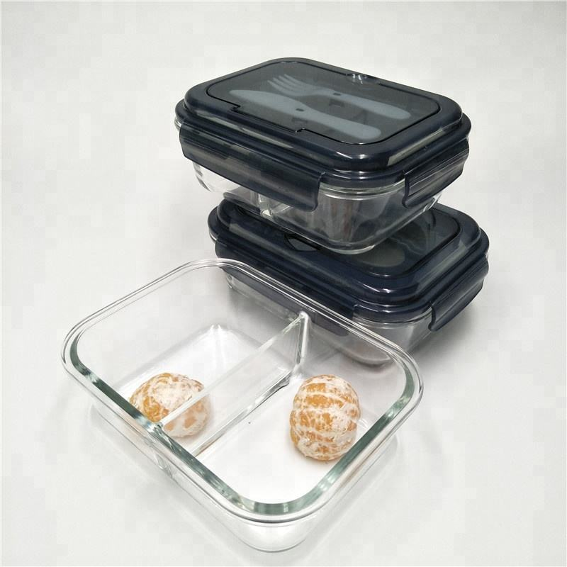 BPA free (high) 저 (borosilicate (gorilla glass) lunch box 갈라져 용기 와 공장 Wholesale Price
