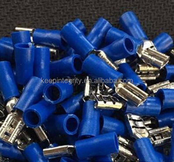 4.8 plug Blue Female Quick Disconnect Cable Wire Splice Insulation Terminal Connector 16-14AWG 1.5-2.5mm2 FDD2-187
