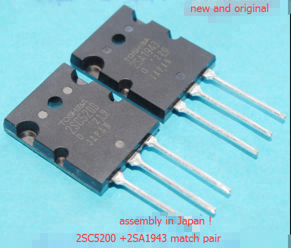 Original New Transistor 2SC5200 2SA1943 C5200 A1943 Power Amplifier NPN Transistor