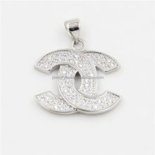 Hot Sale Micro Pave Letter Style Pendant Jewelry Charm Wholesale