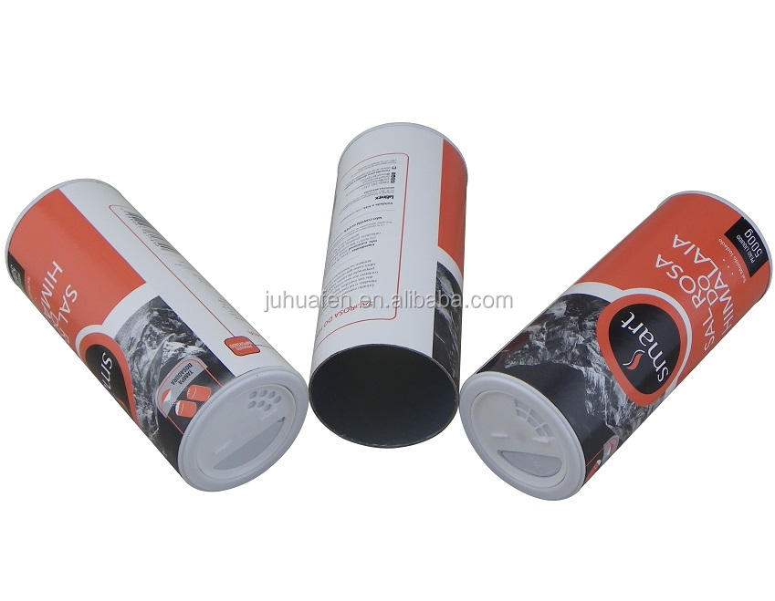 Food Grade Composite Shaker Paper Cans for 500g Himalaya Salt Packaging