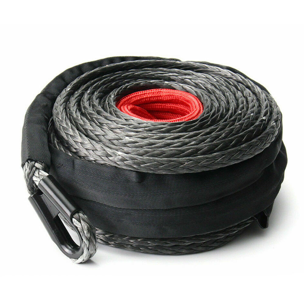 Australia free shipping 10MM x 30M SK75 hook Synthetic Winch Rope 4WD BLK