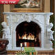 Indoor White Decorative Cast Stone Fireplace Mantels