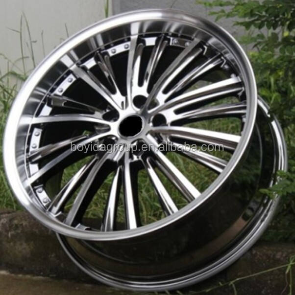 19 inch* 8.5 black vacuum chrome alloy wheel / rims for any kind of cars