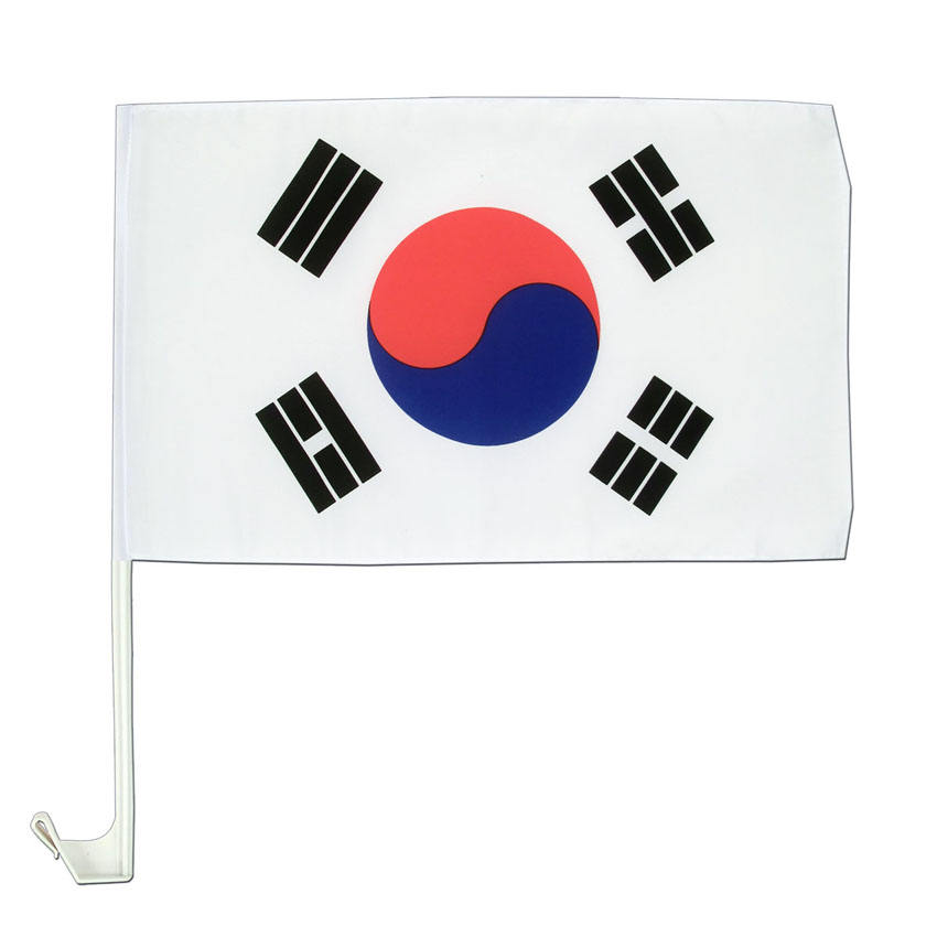 Korean Window Flag Wholesale 100% Polyester Printing South Korea Country Car Mini Flags