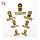 Office Supply 22mm 31mm 38mm 50mm 63mm 75mm Gold Color Round Metal Spring Bulldog Clip