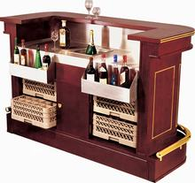 Hotel Modern Mobile Bar Counter / Mahogany Home Bar