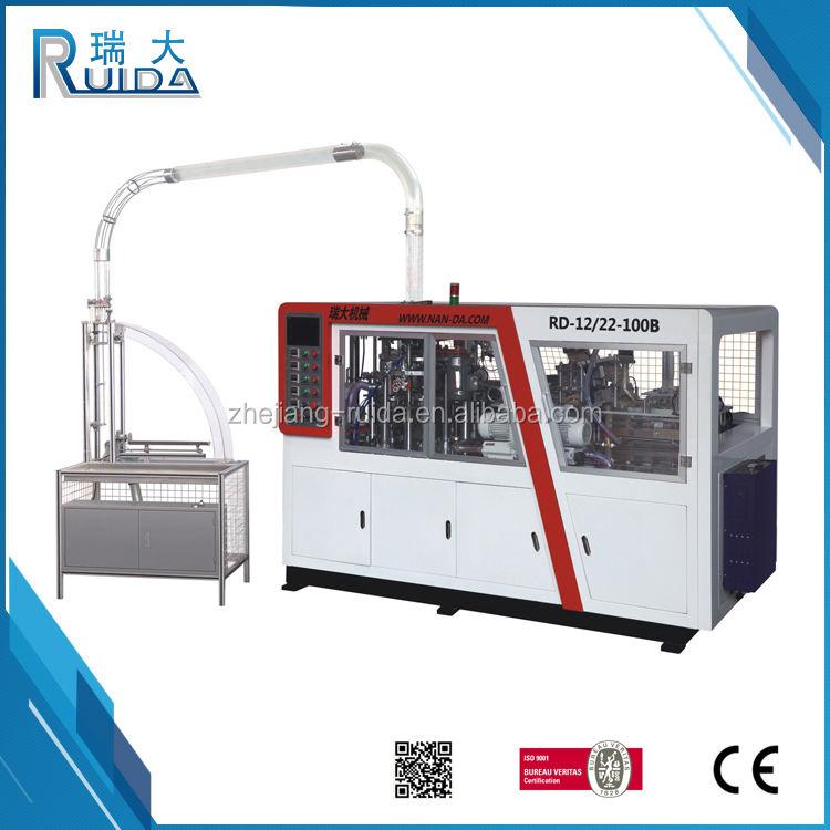 RUIDA Heißer Verkauf Ausgezeichnete Qualität Papierkaffeetasse Formmaschine Für Einweg Pappbecher
