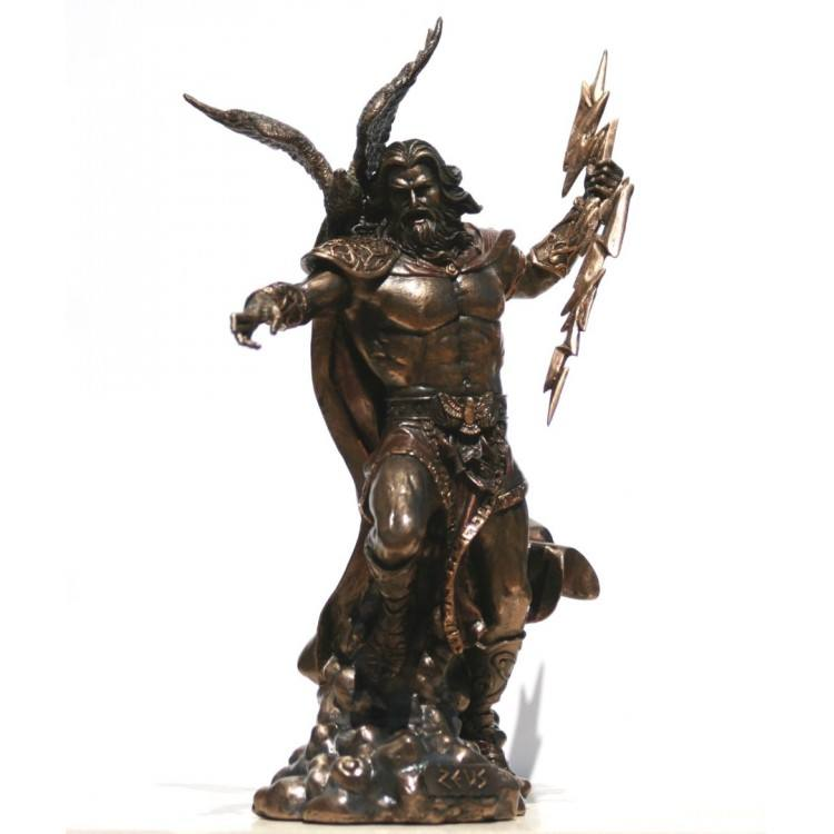 Metal casting figure statue life size Greek lod god Zeus sculpture bronze on sale