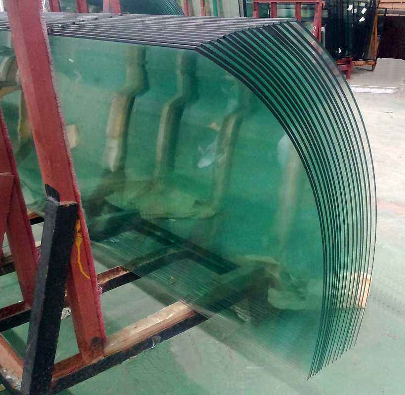 Tempered Double Curved Glass For Curtain Wall & Building