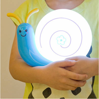 Snail shape night light and decoration snail lamp with USB rechargeable LED lamp