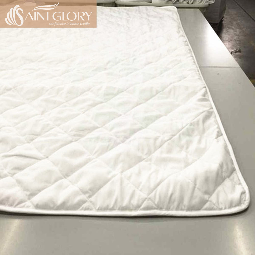 Customized Wholesale White TPU Mattress Cover Waterproof double size mattress protector