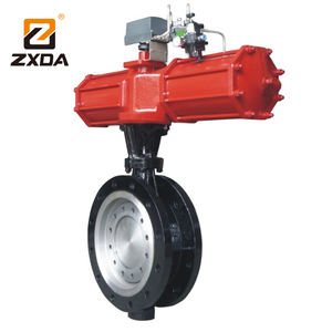 Triple Eccentric Metal Seated Butterfly Valve, high temperature Pneumatic butterfly valve