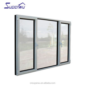 cheap house windows for sale Aluminum casement window with retractable blinds