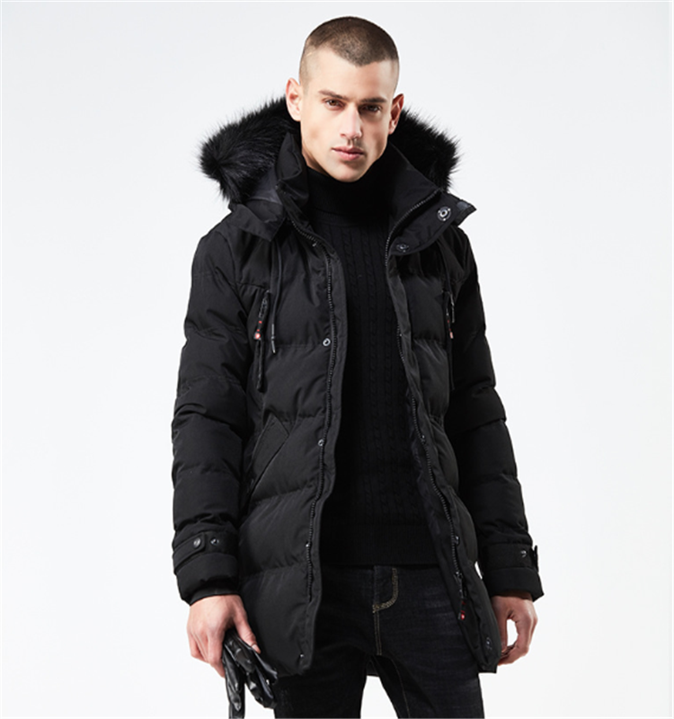 Winter Jacket Men Down Parkas Fur Collar Long Coat Thick Cotton-Padded Jacket Parka Coat Male Fashion Casual Coats 3XL