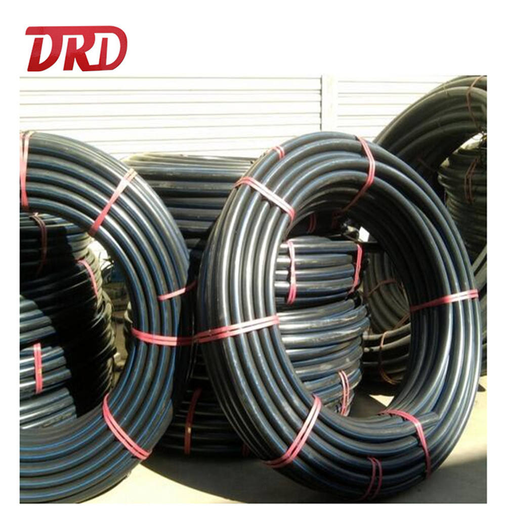 2inch Black polyethylene perforated drain pipe flexible hose