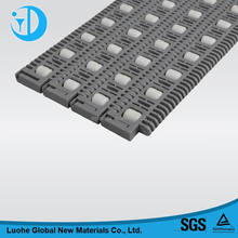 014 Plastic modular conveyor belts with active rollers