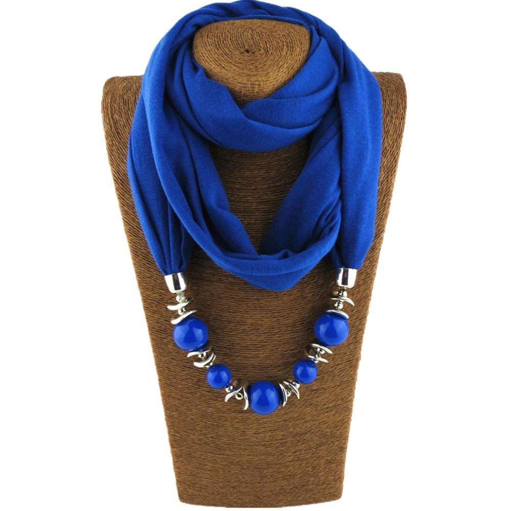 2018 New Style Gorgeous Beads Pendant Neckerchief Women's Shawl Necklaces Ethnic Scarves Jewelry